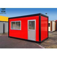 Buy cheap Red Flat Pack Container House , Single Container House For Living / Administration from wholesalers
