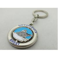 Buy cheap Customized Metal Spinning Key Chain, Zinc Alloy Die Casting Promotional Keychain from wholesalers