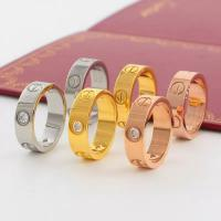 Buy cheap Love Screw Ring Luxury Fashion Cartier Titanium Steel Women Men Gold Couple Jewelry with Box from wholesalers