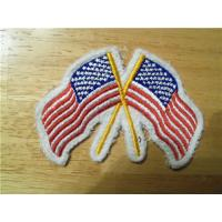 Buy cheap Crossed American Flag Embroidery Iron-On Patch from wholesalers