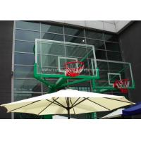 Buy cheap Replacement Curved Sheet Basketball Goal Glass Backboard 8mm / 10mm , Light Blue from wholesalers