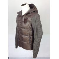 Buy cheap Woven and knitted patchwork Mens Padded Coat with personalized LOGO from wholesalers
