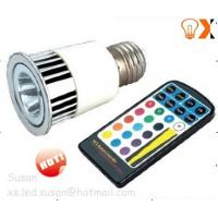 Buy cheap 5w /AC/DC12V E27 White,Red,Green,Blue RGB Remote controlled Color Changing LED light from wholesalers