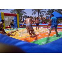 Buy cheap 0.55 Pvc Colorful Inflatable Soapy Football Field from wholesalers