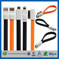 Buy cheap Flat Magnetic Premium Data Cell Phone USB Cable , IOS8 USB Data Line from wholesalers