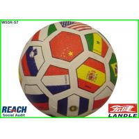 Buy cheap Youth Flag Football Rubber Soccer Ball Size 3 / Colorful Soccer Balls from wholesalers