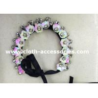 Buy cheap Wedding Rose Pink Handmade Beaded Necklaces 38G Floral Sequin Shape from wholesalers