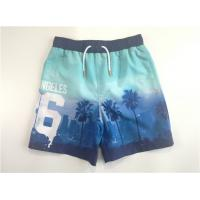 Buy cheap Photo Print Boys Woven Beach Shorts Contrasted Cut Sewn Waist Triangle Lining from wholesalers
