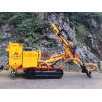 Buy cheap Crawler DTH rock drilling rig machine with hydraulic dry dust collector from wholesalers