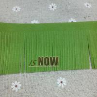 Buy cheap GREEN Flat Faux Suede Flocking Velvet Fringe Trim 60mm DIY Bag Making Findings from wholesalers