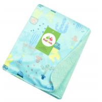 Buy cheap Double side printed soft polar fleece baby knitted blanket for baies, Knitted baby quilt blanket,  100%polyeste from wholesalers