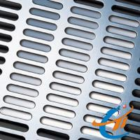 Buy cheap Slot Hole Perforated Metal, 2×20mm Hole Size With 0.8 to1.5mm Thickness from wholesalers