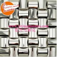 Buy cheap MI-46 silver  arch shape metallic mosaic tiles decor for wall ,backsplash,bar table from wholesalers