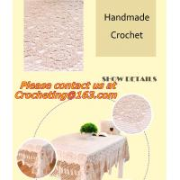 Buy cheap Handmade cotton lace crochet table cloth table runner American Rural nostalgia sofa cloth from wholesalers