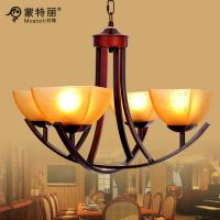 Buy cheap E27 4 Light Simple Vintage Antique Modern Metal Chandelier with Art Glass from wholesalers