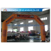 Buy cheap Orange Custom Inflatable Race Arch , Inflatable Archway 420D Oxford Cloth Material product