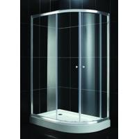 Buy cheap Thick Decorative Low Iron Tempered Glass Wall Green / Blue For Bathroom Doors , Low-E from wholesalers