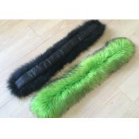 Buy cheap Dyed Color Long Raccoon Fur Collar Handmade Warm Soft Smooth For Jacket Hood from wholesalers