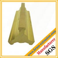 Buy cheap C38500 brass extrusion profiles valve parts brass valve sections profiles fittings from wholesalers