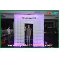 Buy cheap LED Photobooth inflatable White Photo Booth Lighting Tent With 210 D Oxford Color from wholesalers