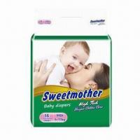Buy cheap Disposable Baby Diaper with Cloth Like and Highly Breathable Features, Various Sizes are Available from wholesalers