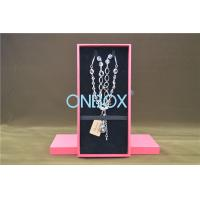 Buy cheap Solid Luxury Cardboard Jewelry Boxes , Removable Insert Pads For Necklace product