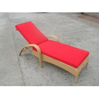 Buy cheap Resin Wicker Chaise Lounge , Foldable Cane Beach Lounge Chair from wholesalers