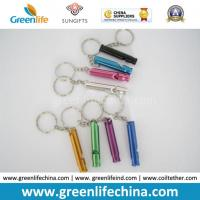 Buy cheap Promotional Metal Stick Whistle in Different Colors W/Split Ring Keychains from wholesalers