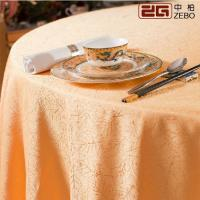Buy cheap 100% Polyester Cotton Decorative Round Fancy Tablecloths For Weddings Customized Size from wholesalers