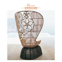 Buy cheap Fashion Wicker Rattan Hotel Lobby Sofa / Outdoor Patio Garden Furniture from wholesalers