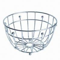 Buy cheap Stainless Steel Fruit Basket for Storage and Home Decoration, OEM Orders Accepted from wholesalers