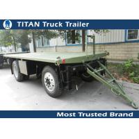 Buy cheap High strength low alloy steel draw bar trailer with 1 axles , 2 axles , 3 axles optional from wholesalers