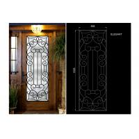 Buy cheap Glass Lowes Wrought Iron Entry Doors And Glass Agon Filled 22*64 inch Durable from wholesalers