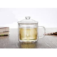 Buy cheap Decal Printing Double Wall Clear Mug , 350ml Double Insulated Coffee Mugs With Lid from wholesalers