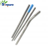 China Metal Stainless Steel Collapsible Straw Silicone Tip 0.25-0.5mm Wall Thickness on sale
