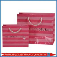 Buy cheap Cotton Handle Glossy Lamination Silver Hot Stamp LOGO Paper Gift Packaging Bag from wholesalers