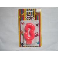 Buy cheap Pink NO Three Number Birthday Candles 19.3g Glittering Paraffin Wax For Party from wholesalers