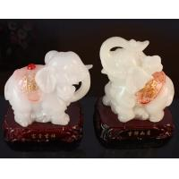 Buy cheap Imitation jade prosperous lucky elephant for resin crafts gifts from wholesalers