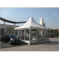 Waterproof Metal Frame 4X4 Gazebo Canopy Tents Watch House Double Wing Glass Door