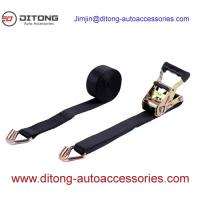 Buy cheap 38MM Ratchet Tie Down Straps Cargo Lashing Belt with Rubber Handle from wholesalers