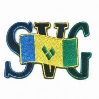 Buy cheap Embroidered Patch with 3-inch Wide, Iron-on Backing and Stitched Border from wholesalers