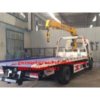 Buy cheap 120HP Engine Lifting 5000KG / 5T Light Flatbed Tow Truck For Car Accident from wholesalers