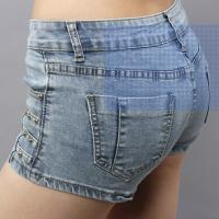 Buy cheap summer ladies sexy short jeans denim pants exported factory wholesales from wholesalers