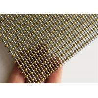 Buy cheap Crimped Type Brass / Stainless Steel Bead Decorative Woven Mesh Pitch 2.5mmx5.4mm from wholesalers