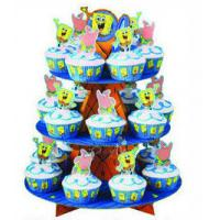 Buy cheap Free Standing Tiered Cardboard POP Display Stand , Offset Printing Small Cake Display Racks from wholesalers
