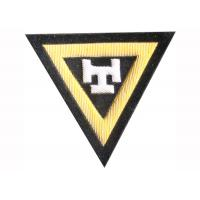 Buy cheap Letter T Embroidery Machine Patches Triangle Pattern Custom Sew On Badges from wholesalers