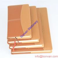 Buy cheap a5 a6 custom wholesale leather journal with logo embossed,custom paper leather book from wholesalers
