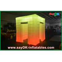 Buy cheap 2 Opening Door Cube Light Inflatable Photo Booth With Top Led from wholesalers