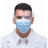 Buy cheap Hospital Surgical Disposable Face Mask With Transparent Splash Shield / PP Nonwoven from wholesalers