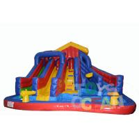 Buy cheap 0.55mm PVC Tarpaulin Inflatable Slides Fireproof Outdoor Game For Children from wholesalers